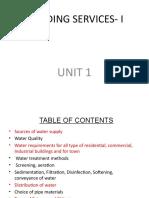 Building Services- i Unit-1