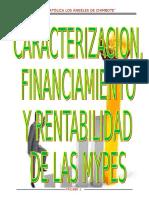 Caracterización, Financiamiento y Rentabilidad de Las Mypesñll