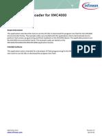 Infineon XMC4000 TOO Bootloader an v01 03 En