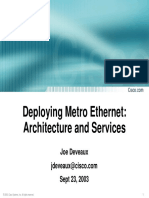 Deploying Metro Ethernet