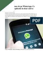 Functii Ascunse de Pe WhatsApp