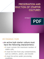 Preservation and Production of Starter Cultures