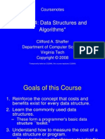 Course Notes on Data Structures and Algorithm by Clifford a. Shafford
