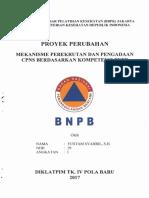 Yustam Syahril - Mekanisme Perekrutan Dan Pengadaan CPNS Berdasarkan Kompetensi BNPB