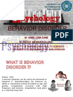Behavior Disorder