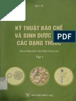 Kỹ Thuật Bào Chế Và Sinh Dược Học Các Dạng Thuốc Tập 1 - p1