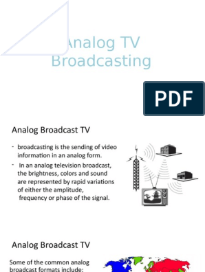 Analog TV Broadcasting | Very High Frequency | Television