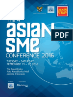 The 4th Asian Sme Conference 2016
