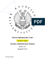 Systems Administration Manual Template