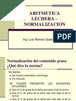 Aritmetica Lechera - Normalizacion