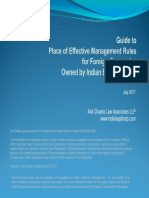 Guide to Point of Effective Management for Foreign Companies Owned by Indian Companies