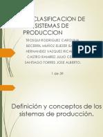 1.3 Clasificacion de Los Sistemas de Produccion