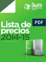 Lista Precios Okofen2015