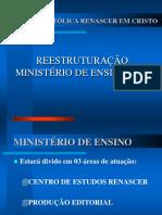 APRESENTAÇÃO REESTRUTURAÇÃO MINISTÉRIO DE ENSINO 2002.ppt