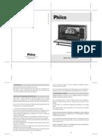 Manual de instruçoes forno eletrico philco