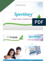 Spertinex - Herbal Supplement for Male infertility by Tulip Lab Pvt Ltd