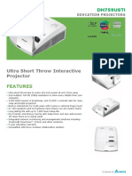 Vivitek DH759USTi Ultra Short Throw Interactive Projector Datasheet