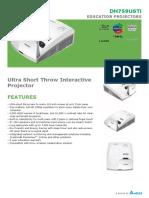 Vivitek DH759USTi Ultra Short Throw Interactive Projector Datasheet