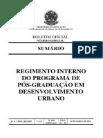 Regimento Interno MDU UFPE 2016