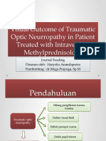 Visual Outcome of Traumatic Optic Neurropathy in Patient