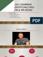 English Grammar Presentation(CHRIS MARTIN & MR
