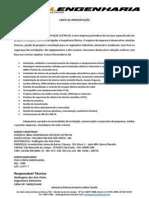 Carta De Apresentação Engenharia Civil