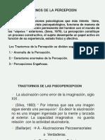 Clase de Sensopercepcion PSICOPATOLOGIA