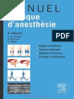 Manuel Pratique Danesthésie, 3e Édition