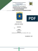 clasificacion geomecanica