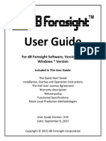 Db Foresight User Guide