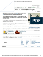 35 Killed in Taliban Attack on Central Afghan Hospital