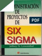 Administracion de Proyectos Six Sigma