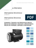 Alternadores Sincronicos, Manual de Instalacion, Operacion y Mantenimiento