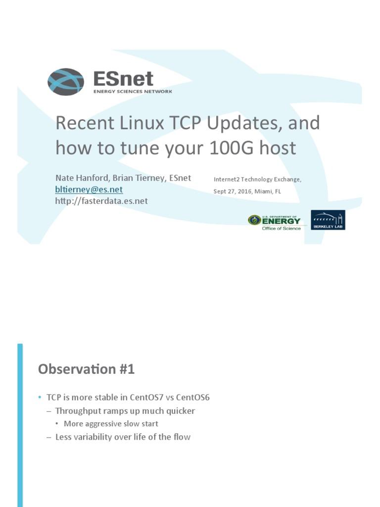 100G-Tuning-TechEx2016 tierney pdf | Transmission Control Protocol