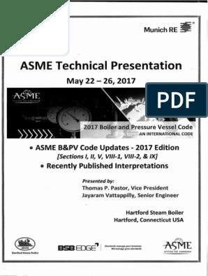 Asme b&Pv Code Updates - 2017 Edition- Sec i, II, V, Viii-1