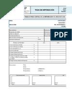 Tasa de Imprimacion