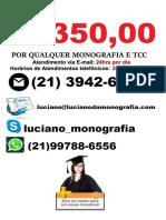 Monografia e tcc por R$350,00 em   Sao Jose Dos Campos