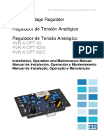 Regulador de Tension Analogico, Manual de Instalacion Operacion y Mantenimiento