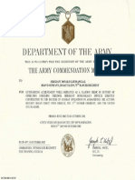 Donnie Bumanglag's military records