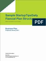 Financial Plan Template Startuptipsdaily