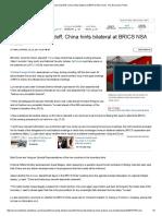 Amid Doklam Standoff, China Hints Bilateral at BRICS NSA Meet