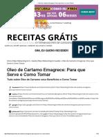 → Oleo de Cartamo Emagrece_ Para que Serve e Como Tomar