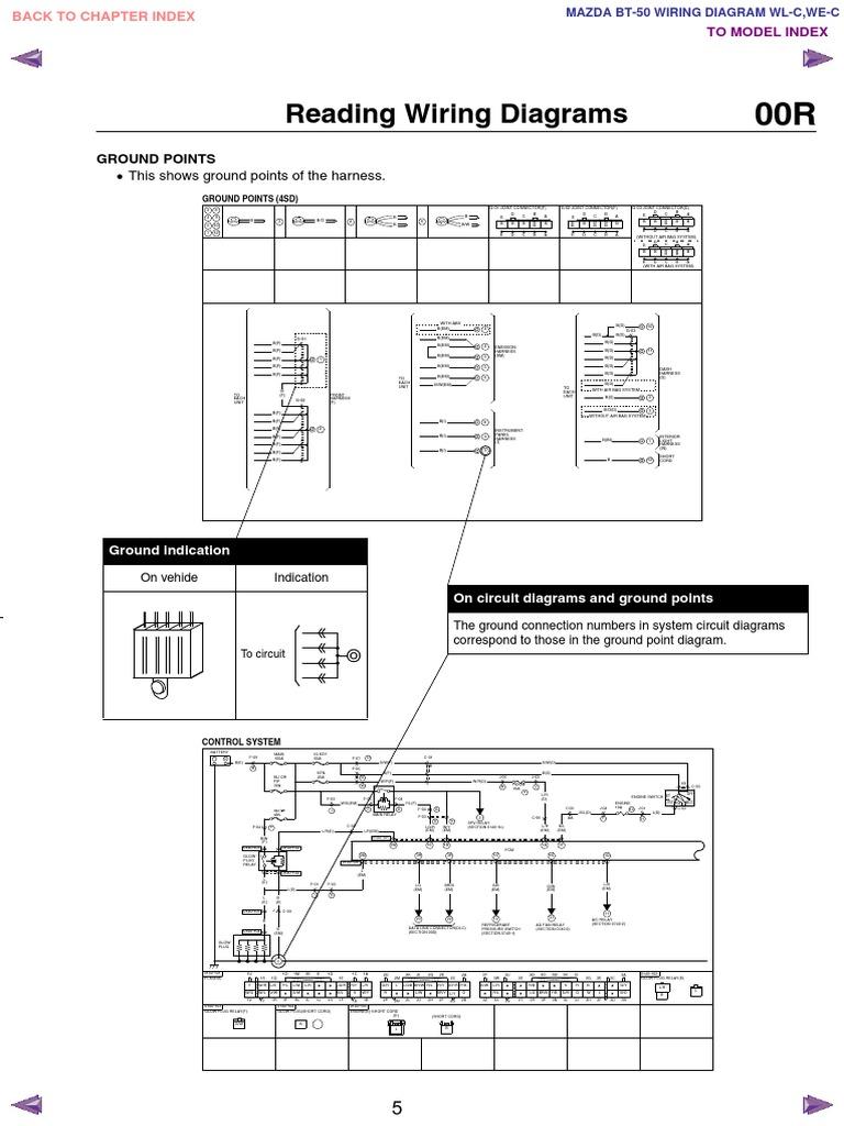 Mazda Bt50 Wl C  U0026 We C Wiring Diagram F198 30 05l5