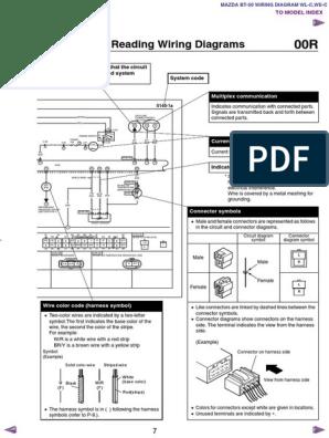 mazda bt50 wl c & we c wiring diagram f198!30!05l7   electrical connector    electrical equipment  scribd