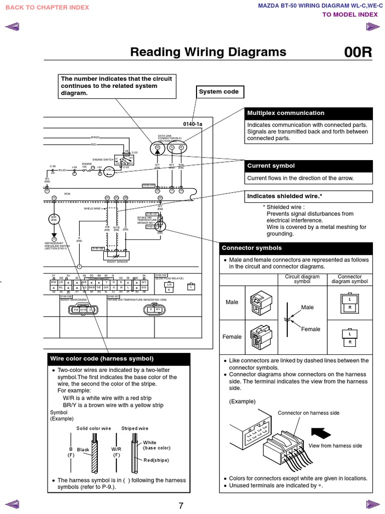 Mazda Bt50 Wl C  U0026 We C Wiring Diagram F198 30 05l7
