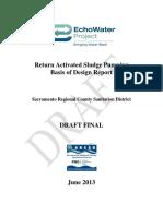 Return Activated Sludge Pumping  Basis of Design Report