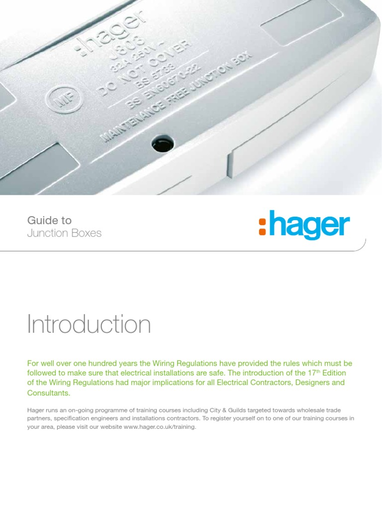 Hager guide to junction boxespdf electrical wiring cable asfbconference2016 Gallery