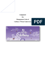 Assignment on Cadbury Management Crisis