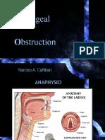 Laryngeal Obstruction