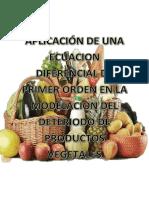 Aplicación de Una Ecuacion Diferencial de Primer Orden en La Modelacion Del Deteriodo de Productos Vegetales (2)